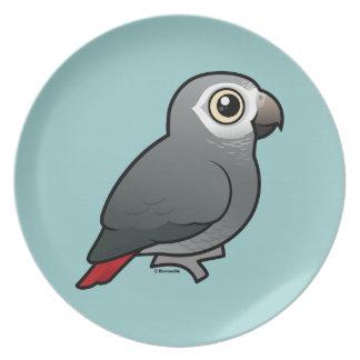 Timnehのアフリカ灰色のオウム プレート
