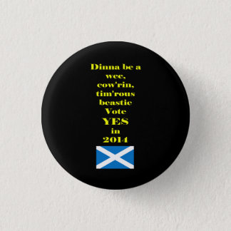 Timorous Beastieのスコットランドの独立ボタン 3.2cm 丸型バッジ