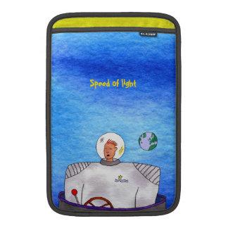 "TinCanの宇宙の人光速11""垂直 MacBook スリーブ"