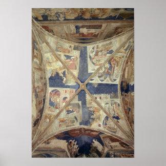 Tinelのチャペルの天井の眺め ポスター
