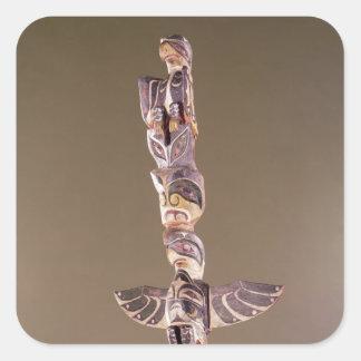 Tinglitの鳥の一族のトーテムポール スクエアシール