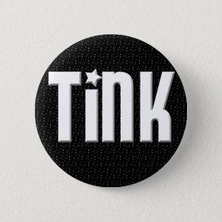 Tinkボタン-黒い星 5.7cm 丸型バッジ