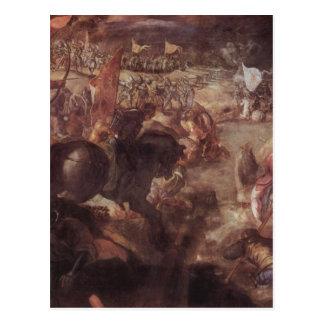 Tintoretto著タロイモの戦い ポストカード