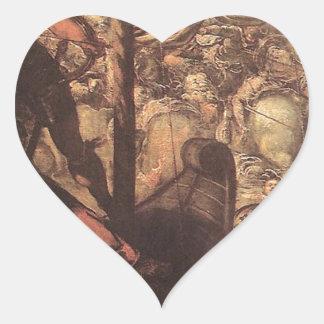 Tintoretto著トルコ人とクリスチャン間の戦い ハートシール