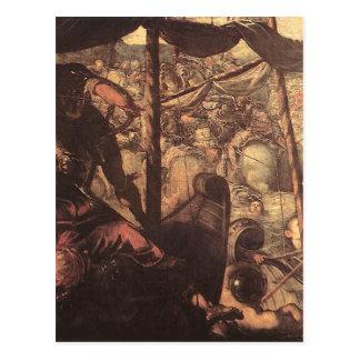 Tintoretto著トルコ人とクリスチャン間の戦い ポストカード