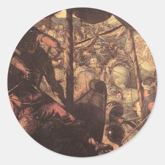 Tintoretto著トルコ人とクリスチャン間の戦い ラウンドシール