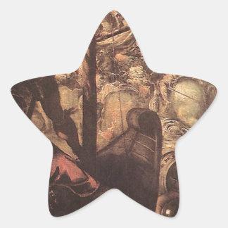 Tintoretto著トルコ人とクリスチャン間の戦い 星シール