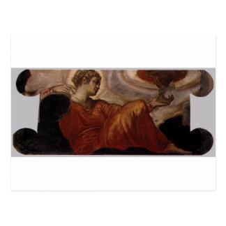 Tintoretto著信頼のアレゴリー ポストカード
