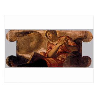 Tintoretto著長所のアレゴリー ポストカード