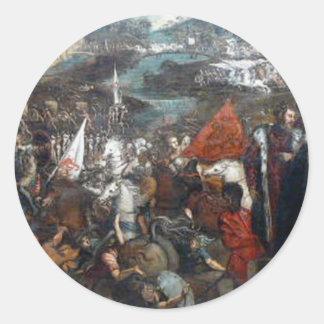 Tintoretto著Asolaの戦い ラウンドシール