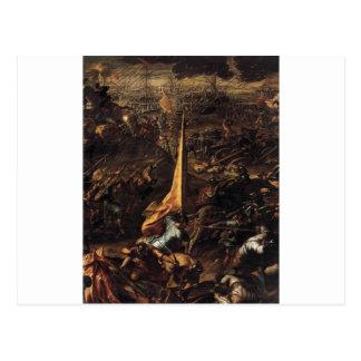 Tintoretto著Zaraの征服 ポストカード