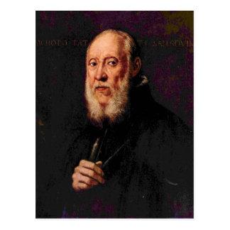 Tintoretto -彫刻家のJacopo Sansoポートレート ポストカード