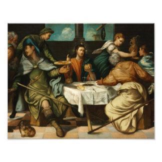 Tintoretto - Emmausの夕食 フォトプリント