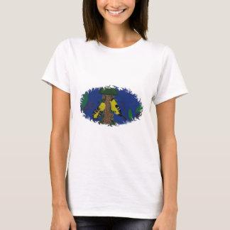 Tinybirdsのギフトによる送り装置のGoldfinches Tシャツ