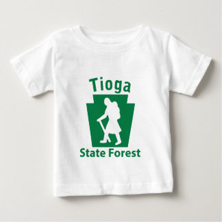 Tioga SFのハイキングの(女性) -幼児Tシャツ ベビーTシャツ