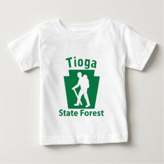 Tioga SFのハイキング(男性) -幼児Tシャツ ベビーTシャツ