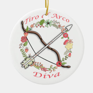 TiroのAlのArcoの花型女性歌手 セラミックオーナメント