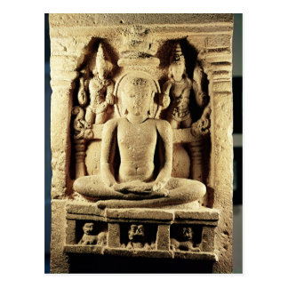 Tirthankara Mahaviraを描写するレリーフ、浮き彫り ポストカード