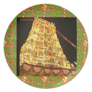 TIRUPATIの寺院の南インドの行脚の神聖な旅行 プレート