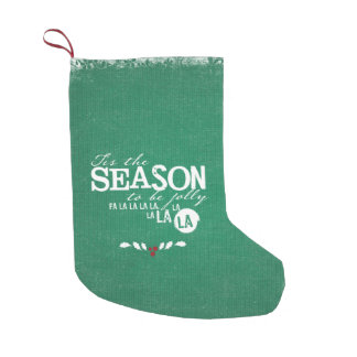 Tis季節のクリスマスの引用文の緑 スモールクリスマスストッキング