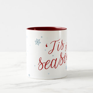 「Tis季節の休日のマグ ツートーンマグカップ