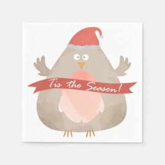 Tis季節! クリスマスの休日の紙ナプキン スタンダードカクテルナプキン