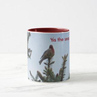 「Tis季節(フィンチおよびマツ) マグカップ