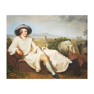 Tischbein 1787年著ローマのカンパニアのGoethe キャンバスプリント