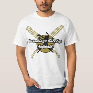 Tishomingoのブルドッグのソフトボール Tシャツ