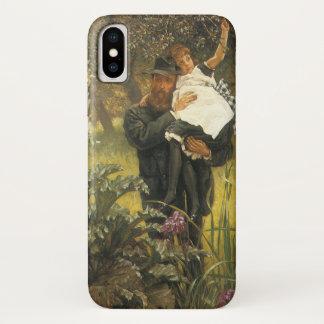 Tissotのヴィンテージのビクトリアンなポートレートの芸術著寡夫 iPhone X ケース