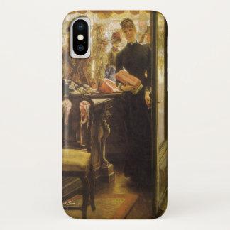 Tissotのヴィンテージのビクトリア時代の人のファインアート著売子 iPhone X ケース