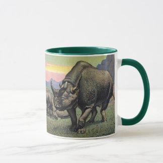 Titanotheriumの有史以前の動物の旧式なプリント マグカップ