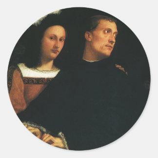 Titianのヴィンテージのルネサンスのファインアートによるコンサート ラウンドシール