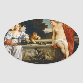 Titian著および不敬な愛神聖な愛 楕円形シール