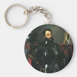 Titian著ウルビノの公爵のポートレート キーホルダー