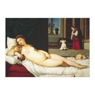 Titian著ウルビノの金星 キャンバスプリント