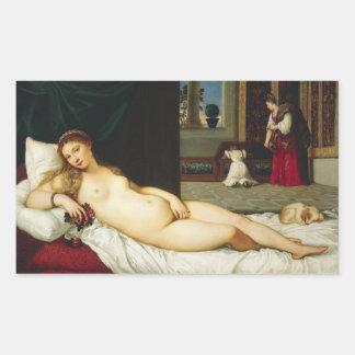 Titian著ウルビノの金星 長方形シール