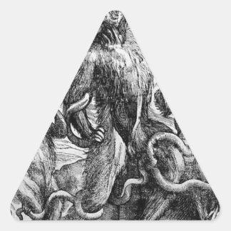 Titian著グループのLaocの風刺漫画 三角形シール・ステッカー