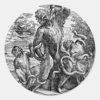 Titian著グループのLaocの風刺漫画 丸形シール・ステッカー