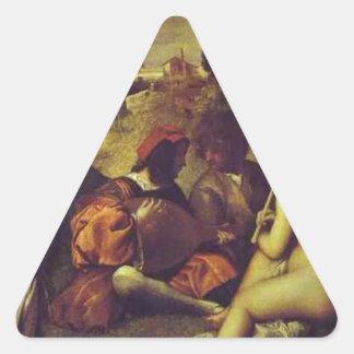 Titian著コンサートChampetre 三角形シール・ステッカー