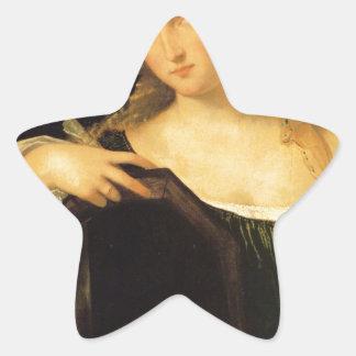 Titian著不敬な愛 星形シール・ステッカー