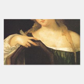 Titian著不敬な愛 長方形シール・ステッカー