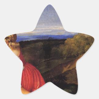 Titian著人の3つの年齢 星型シール