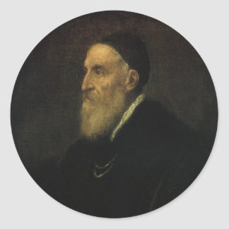 Titian著自画像、ルネサンス芸術 ラウンドシール