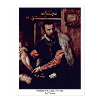 Titian著Jacopo Stradaのポートレート ポストカード