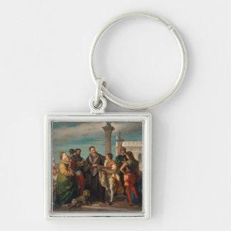 Titian (1488-1576年)とVerones間の会合 キーホルダー