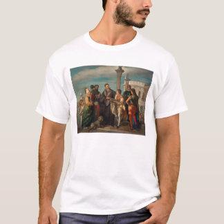 Titian (1488-1576年)とVerones間の会合 Tシャツ