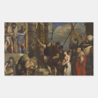 Titian - Ecceのヒト属 長方形シール・ステッカー