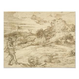 Titian - St.セオドアの克服の景色 フォトプリント