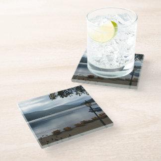 Titisee湖ドイツガラスのコースター ガラスコースター
